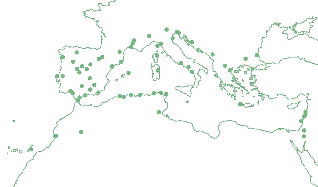 Mapa de les Reserves de la Biosfera Mediterrània