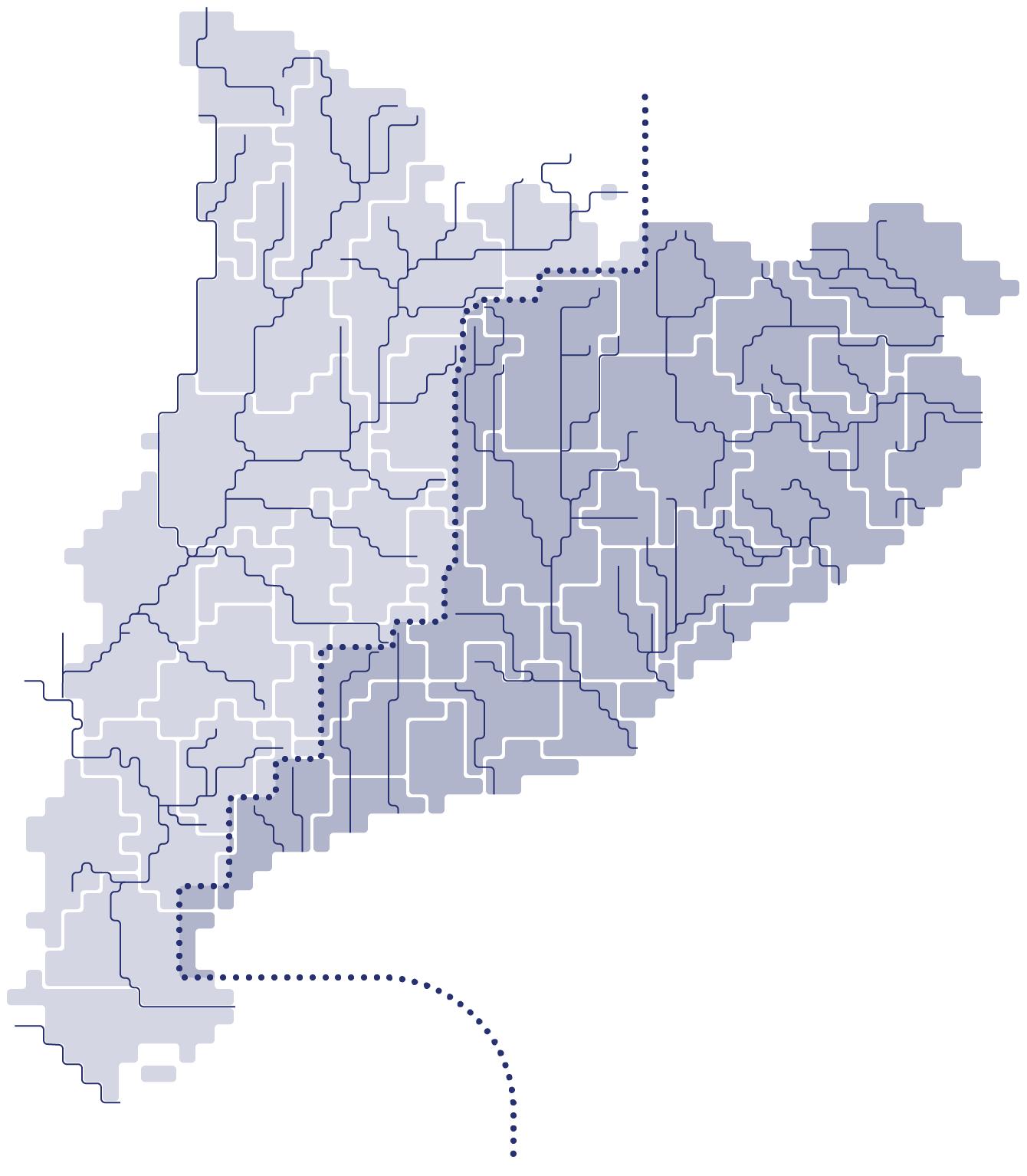 mapa conques a Catalunya
