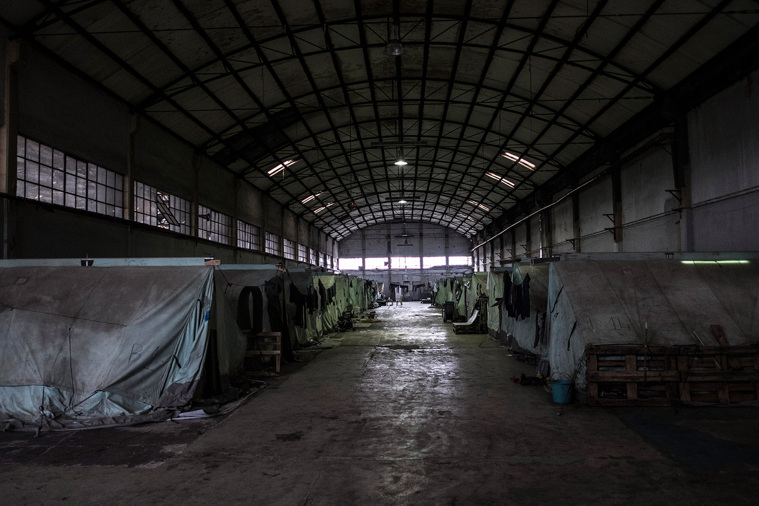 The Karamanlis refugee camp in northern Greece, a few kilometres from Thessaloniki