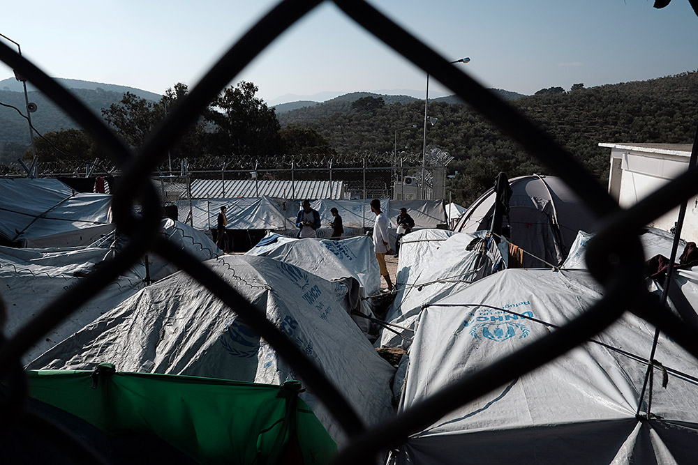 Living conditions in Moria are very hard due to the deficiencies in the facilities