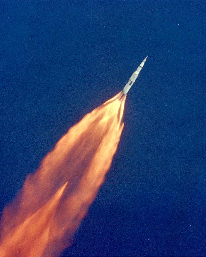 El Saturn V en ple vol