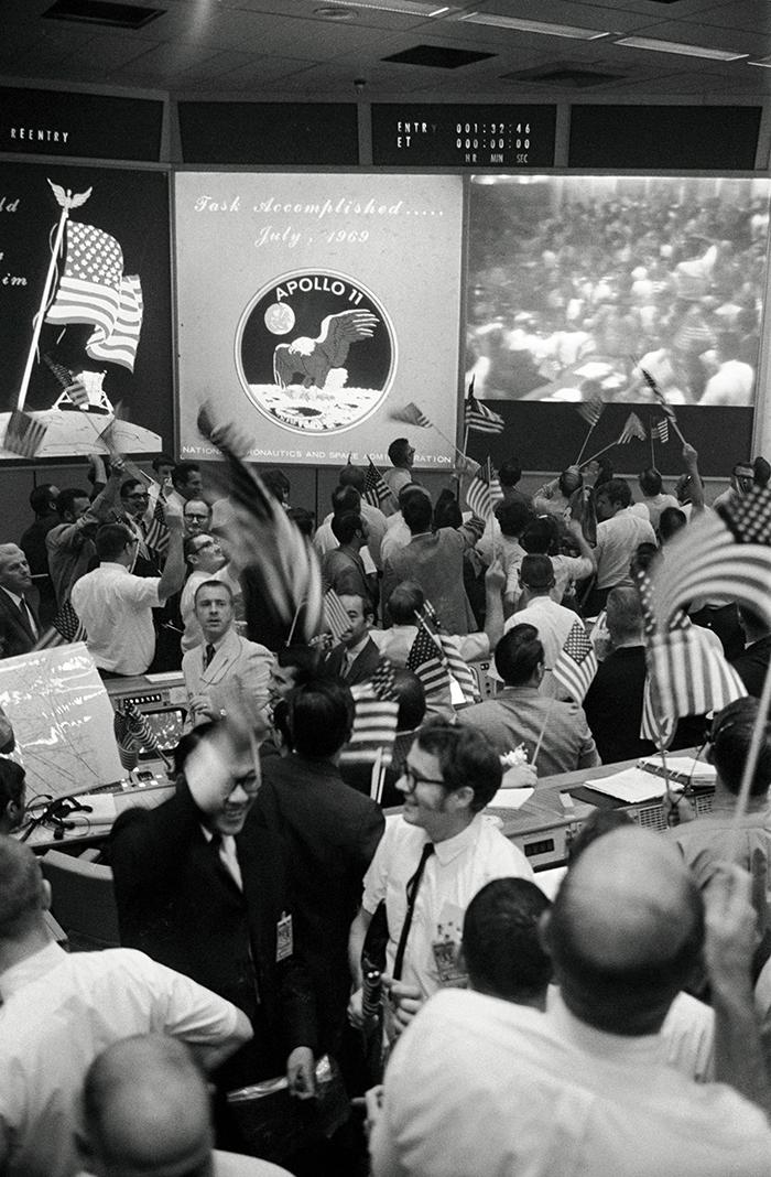 Celebració al centre de control de Houston