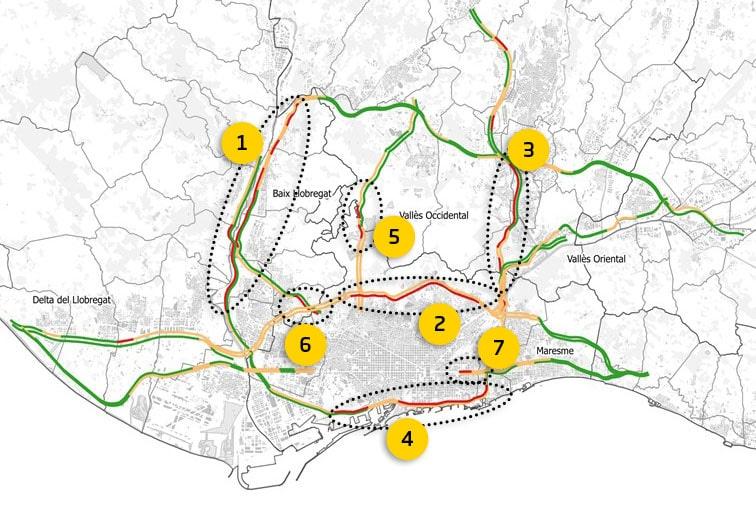 mapa transit Barcelona mati