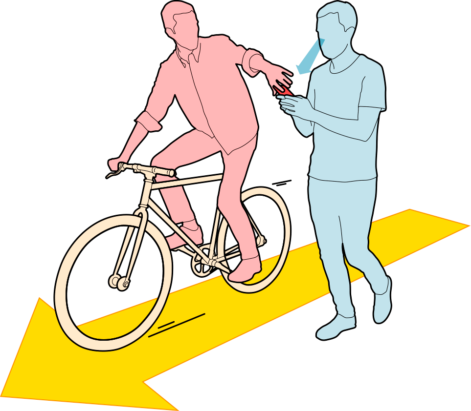 The bicycle snatch