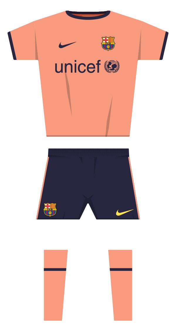 Segona equipació de la temporada 2009/2010