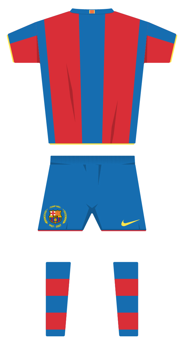 First kit season 2007/2008 back