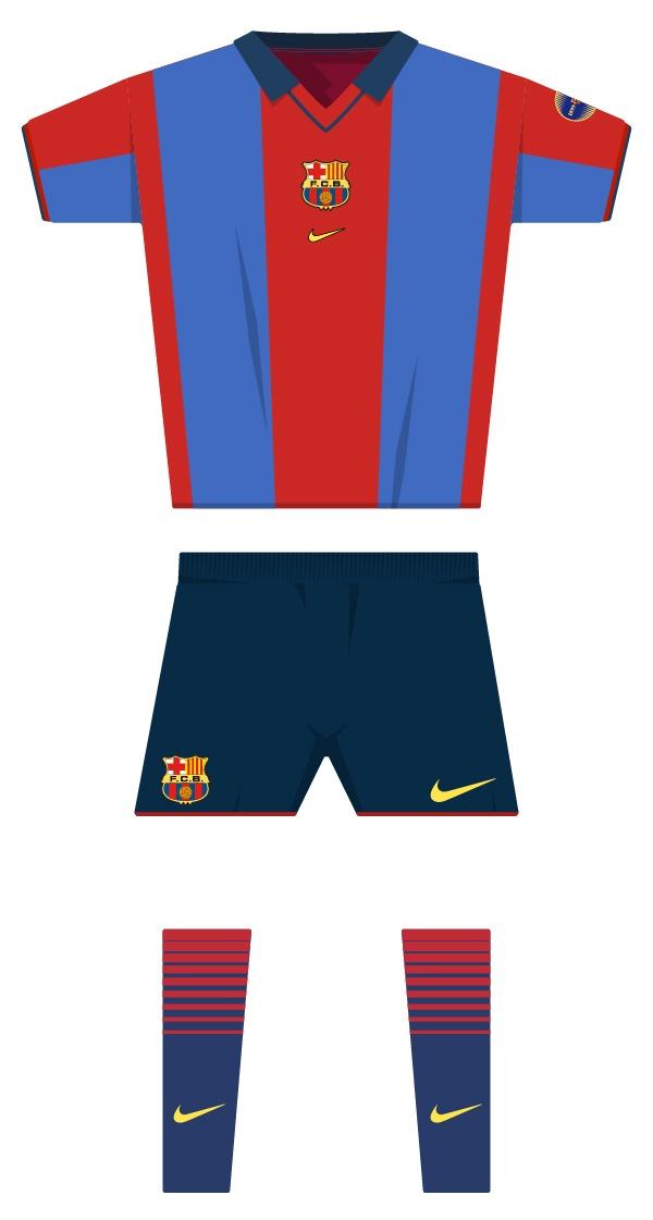 Primera equipació de la temporada 2000/2001