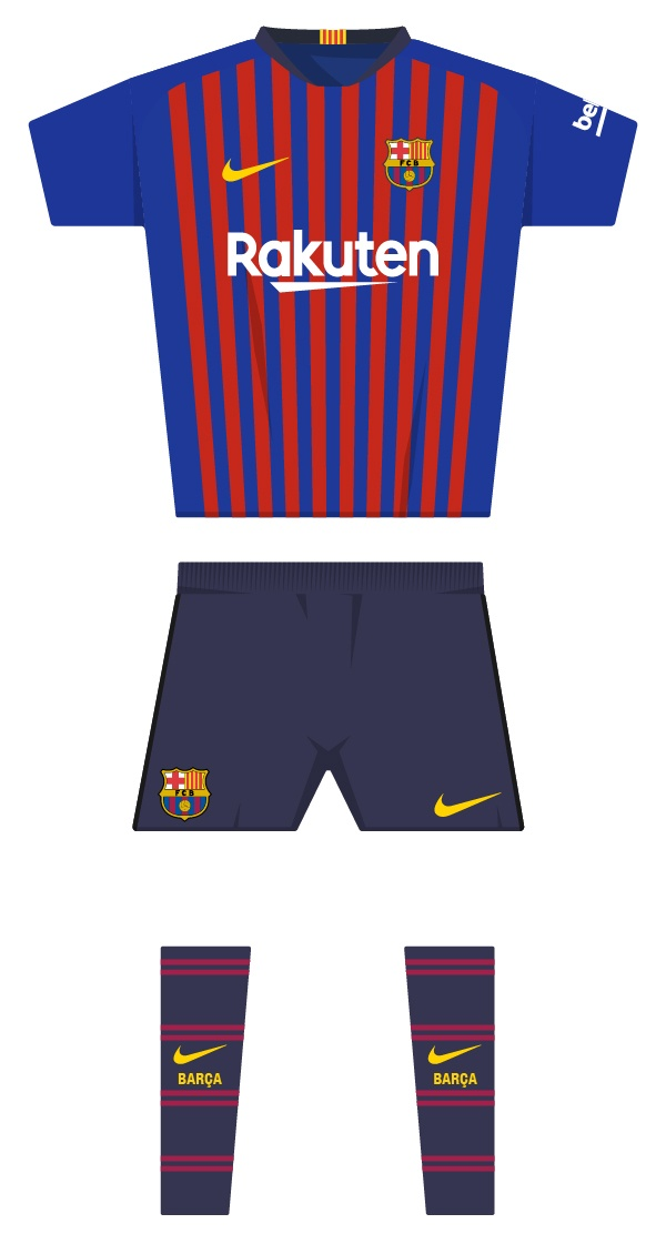 Barca S Historic Kit Since The Club Was Founded