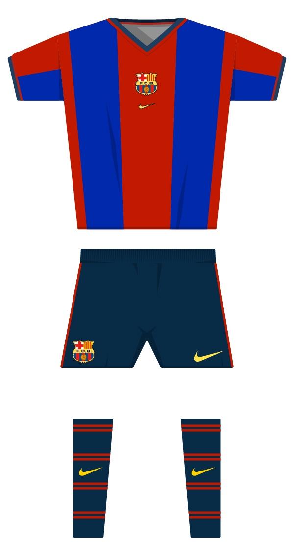 Primera equipació de la temporada 1998/1999