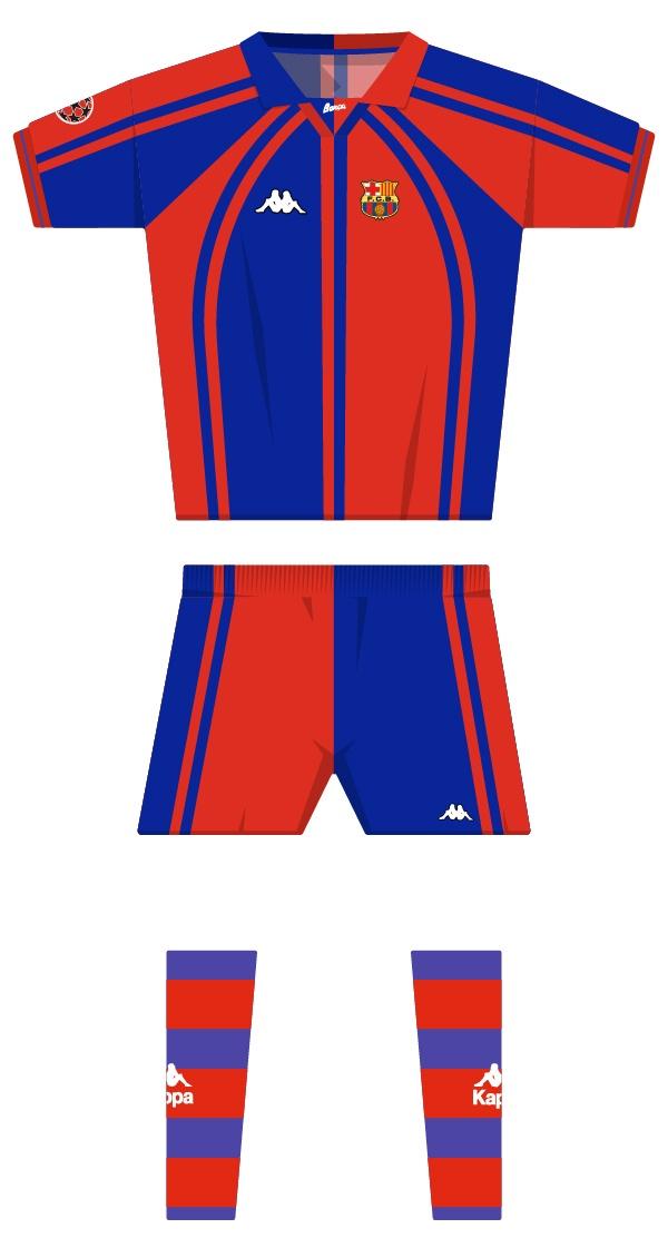 Internacional equipació de la temporada 1997/1998