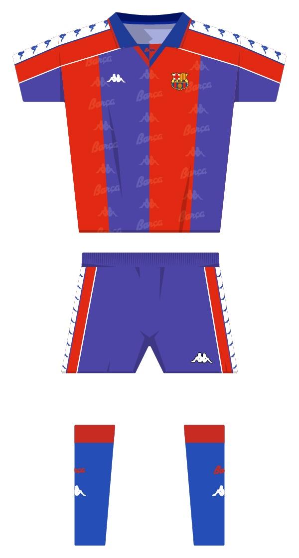 Primera equipació de la temporada 1992/1993 - 1994/1995