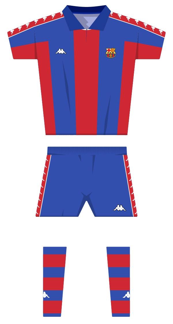 Internacional equipació de la temporada 1992/1993 - 1994/1995