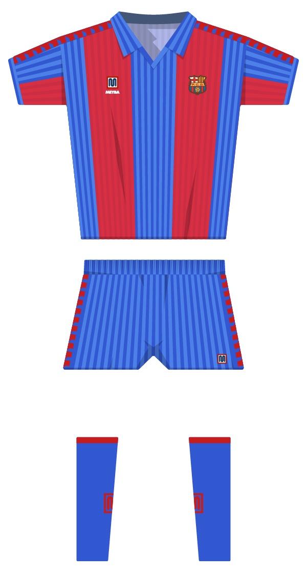 Primera equipació de la temporada 1990/1991 - 1991/1992