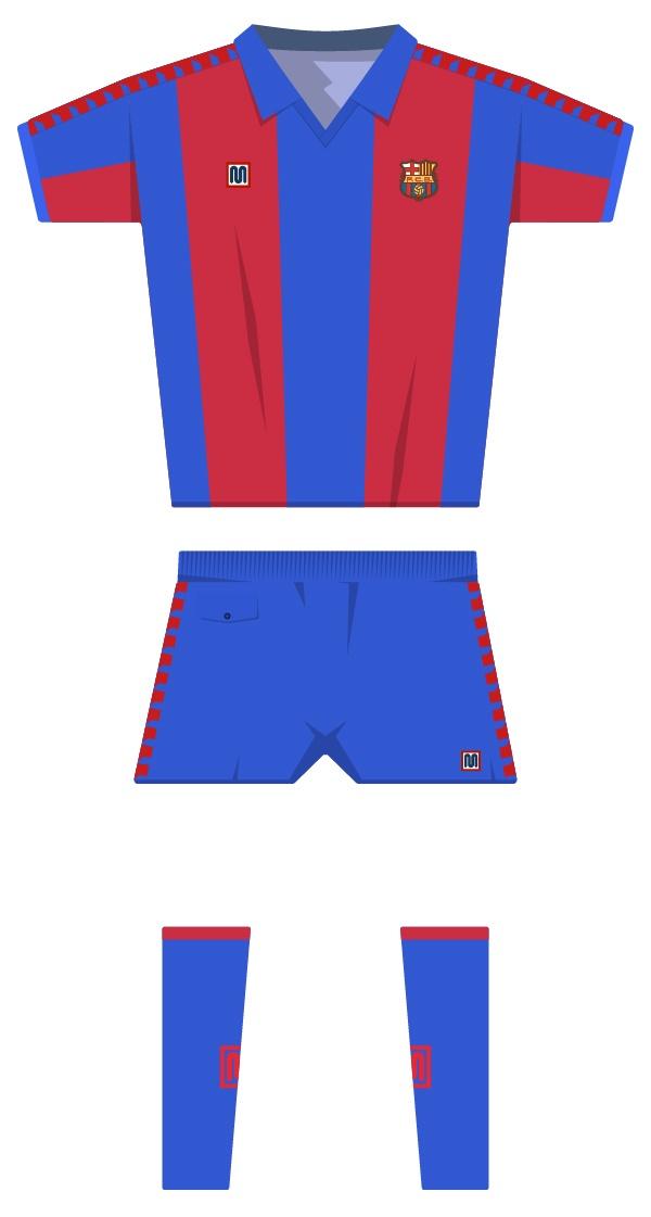 Primera equipació de la temporada 1981/1982 - 1989/1990