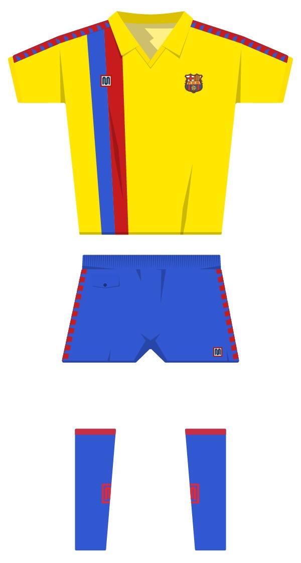 Segona equipació de la temporada 1981/1982 - 1989/1990