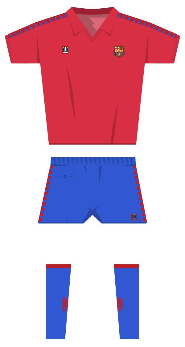 Tercera equipació de la temporada 1981/1982 - 1989/1990