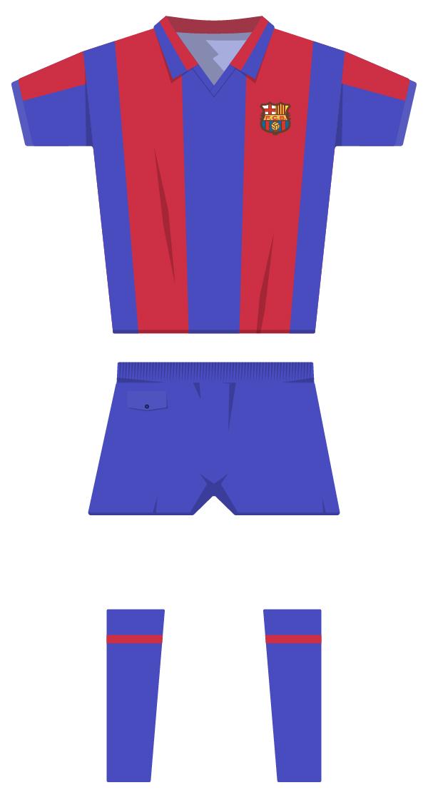 Primera equipació de la temporada 1980/1981