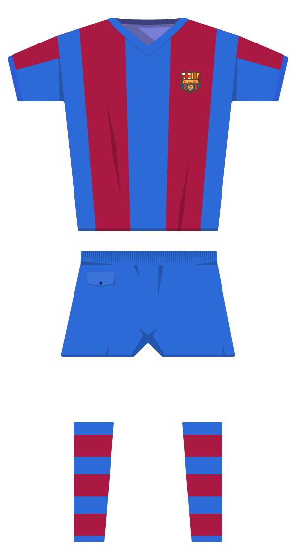 Primera estiu equipació de la temporada 1970/1971 - 1978/1979