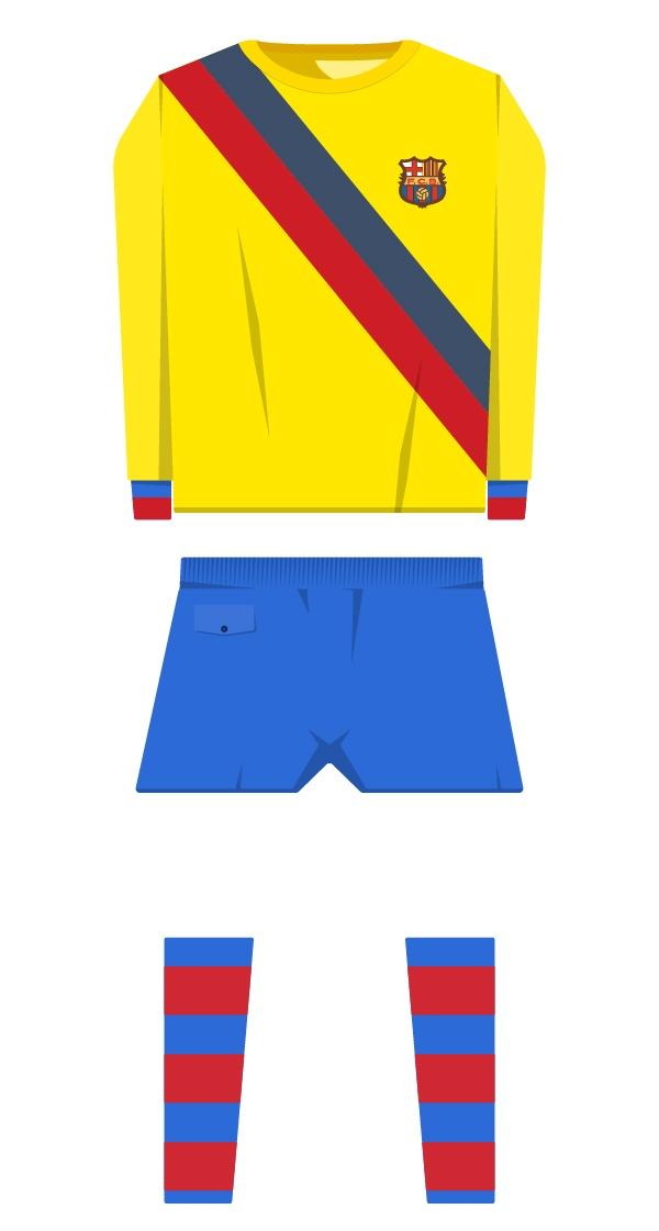 Segona equipació de la temporada 1970/1971 - 1978/1979