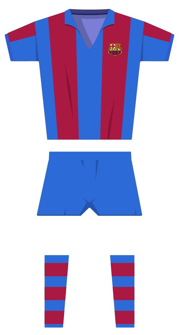 Primera estiu equipació de la temporada 1960/1961 - 1969/1970
