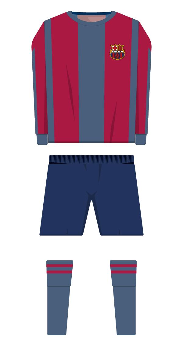 Primera equipació de la temporada 1930/1931 - 1939/1940