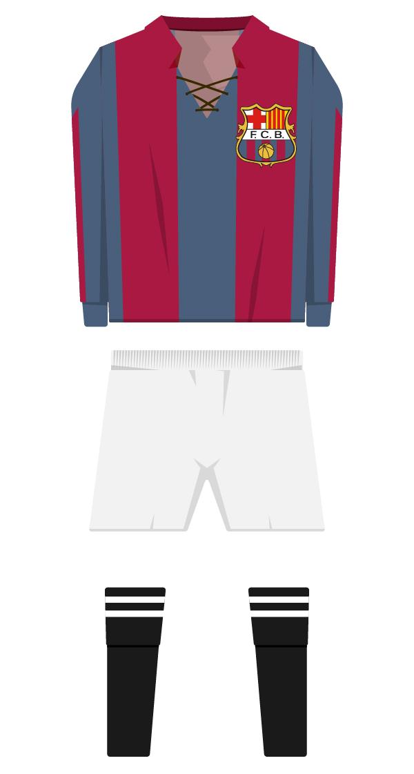 Primera equipació de la temporada 1911/1912 - 1912/1913