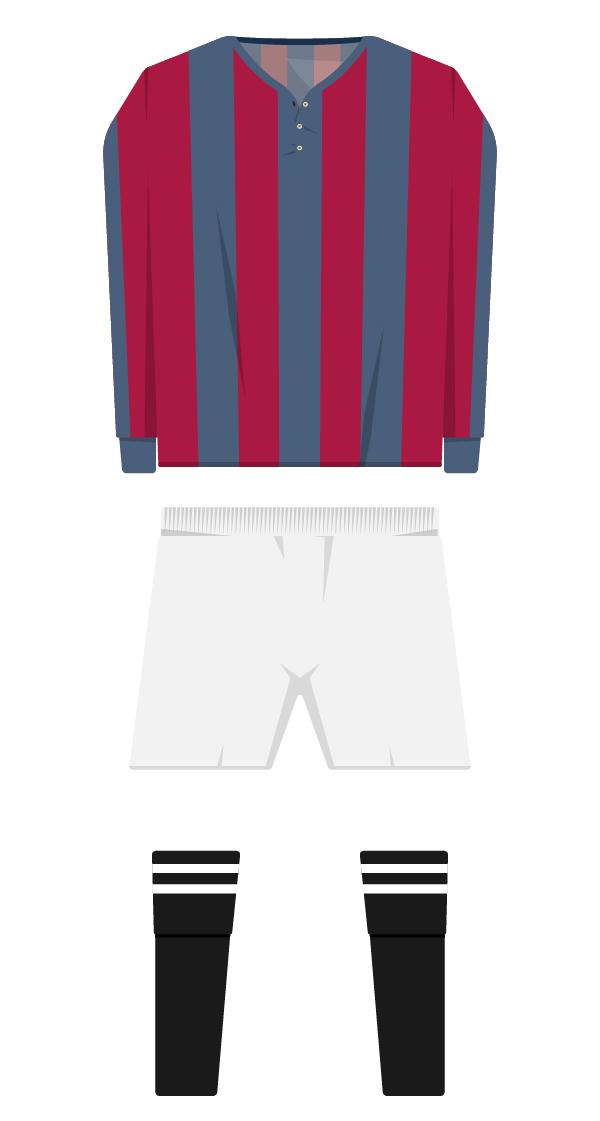 Primera equipació de la temporada 1910/1911