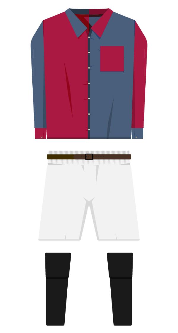Sense escut equipació de la temporada 1899/1900 - 1909/1910