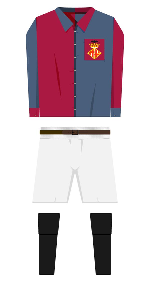 Amb escut equipació de la temporada 1899/1900 - 1909/1910