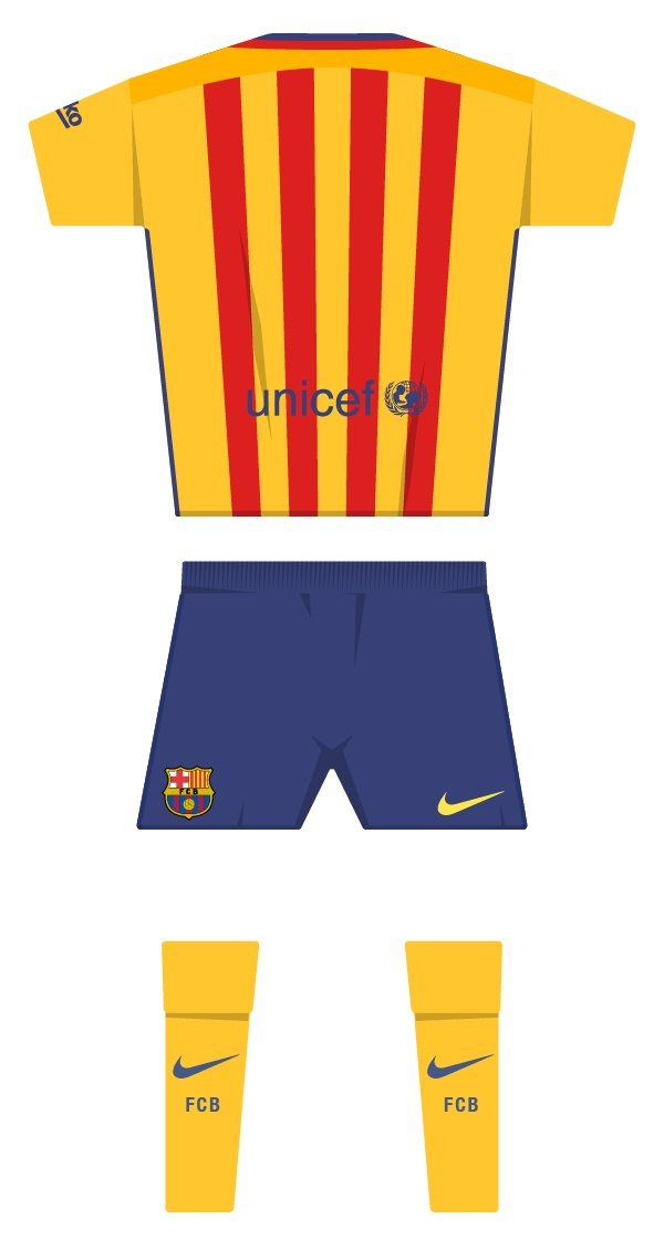 Second kit season 2015/2016 back