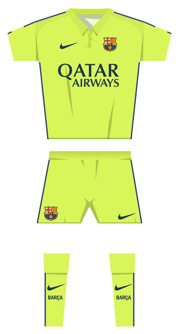 Tercera equipació de la temporada 2014/2015