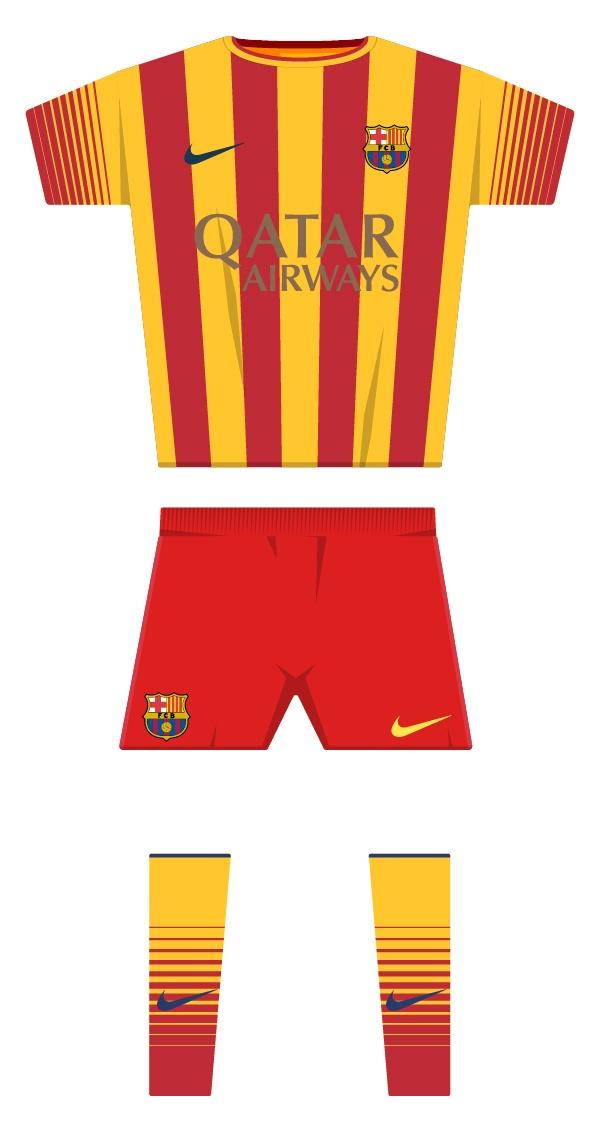 Segona equipació de la temporada 2013/2014
