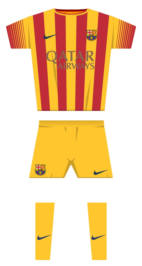 Second kit season 2013/2014 back