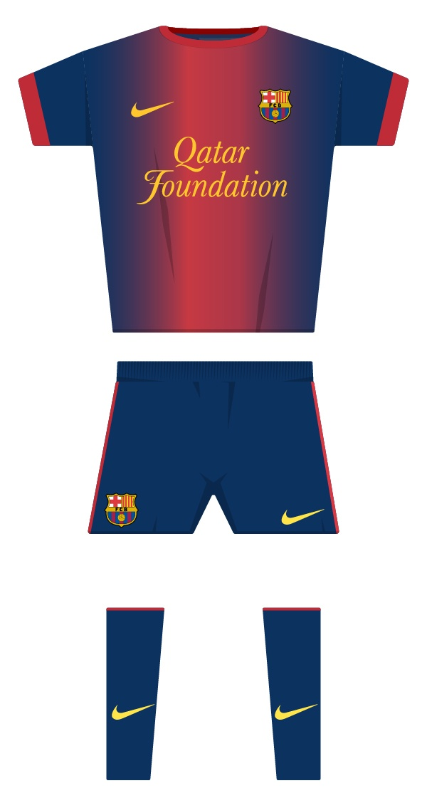 Primera equipació de la temporada 2012/2013