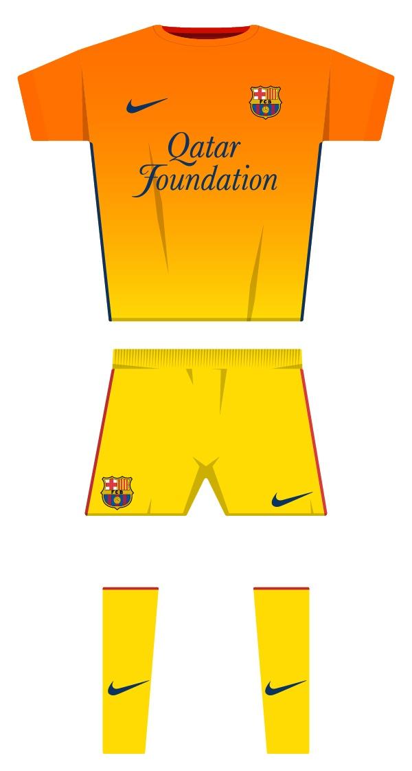 Segona equipació de la temporada 2012/2013