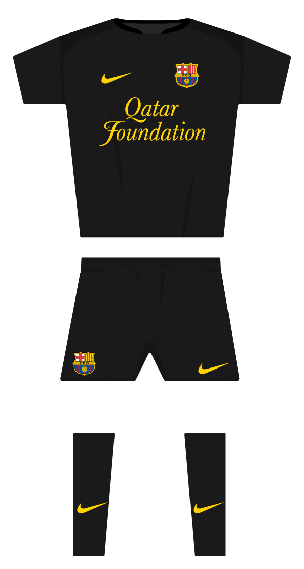 Segona equipació de la temporada 2011/2012